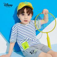 迪士尼童装男童儿童时尚落肩短袖T恤宝宝米奇上衣