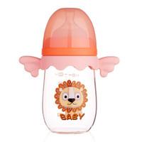 Snow Bear 小白熊 天使系列 宽口径玻璃奶瓶 240ML 魔幻粉 *4件