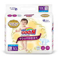 GOO.N 大王 珍珠绵柔棉花糖系列 纸尿裤 XL30片