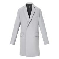 GXG男装 冬季热卖灰色长款羊毛呢大衣外套男#174226590 *2件