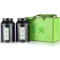 川盟 四川绿茶明前毛尖茶2020年新茶礼盒装 250g(送精美玻璃杯) *3件