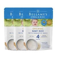 BELLAMY'S 贝拉米 婴儿有机米糊 125g 3件装