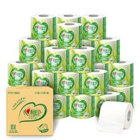 心相印卷纸茶语卫生纸4层140克27卷有芯卷纸整箱 *4件