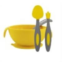 B.box 贝博士 儿童硅胶带勺吸盘碗+婴儿三角叉勺套装