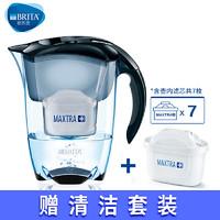 碧然德BRITA厨房净水器过滤芯自来水家用净水壶尊享 探索者3.5L黑 滤芯6枚
