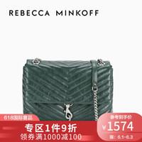Rebecca Minkoff新款牛皮女包EDIE FLAP 链条单肩斜挎手提包中号 Pine
