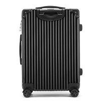 卡帝乐鳄鱼(CARTELO) 拉杆箱 旅行箱24英寸复古款直角行李箱密码箱托运箱  黑