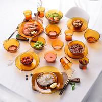 Duralex多莱斯 法国进口琥珀色玻璃餐具单只 *4件