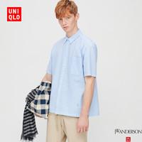 【设计师合作款】男装 泡泡纱格子衬衫(短袖) 427388 优衣库