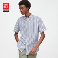 男装 泡泡纱条纹衬衫(短袖) 425107 优衣库UNIQLO