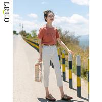 LRUD白色牛仔裤高腰显瘦女2020夏季新款韩版宽松直筒裤潮小脚裤子