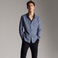 Massimo Dutti 00114131420 男士格纹衬衫