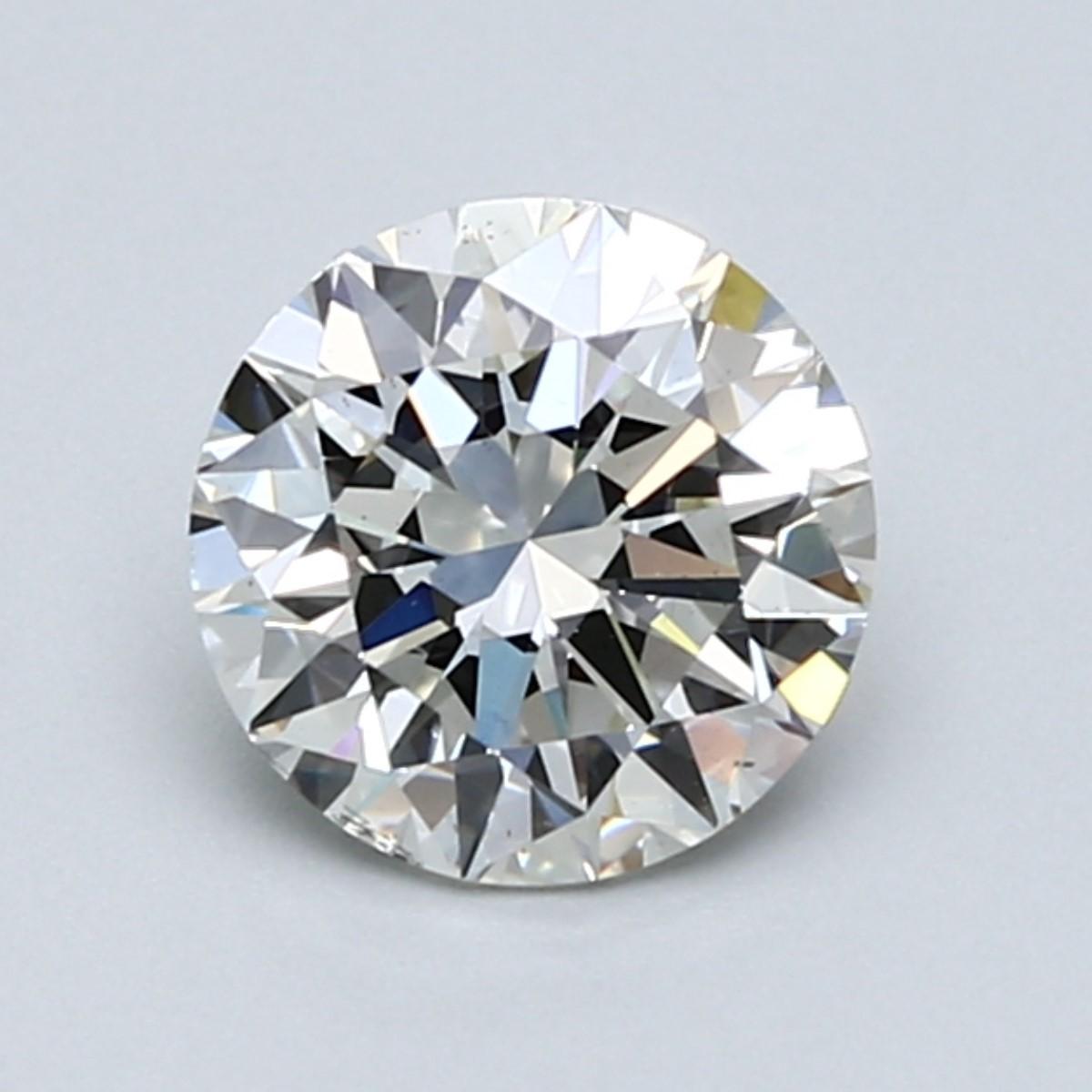 Blue Nile 1.25克拉圆形切割钻石(切工理想 成色I 净度VS2)