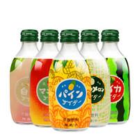日本友升友/桝白桃西瓜果味碳酸汽水多口味饮料300ml*5瓶友树 西瓜味*5瓶