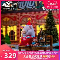 罐头猪LULU圣诞系列套装手办潮流公仔摆件可爱礼物玩具