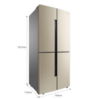 Ronshen 容声 BCD-456WD11FP 十字对开门冰箱