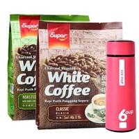 马来西亚进口 超级(super)炭烧3合1白咖啡 原味和榛果组合 600g+540g *4件