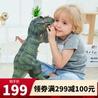 RECUR恐龙玩具软胶超大号霸王龙猩猩金刚大白鲨儿童仿真动物模型玩具摆件 霸王龙深绿(超大号)RC16039D-DG