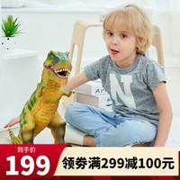 RECUR恐龙玩具软胶超大号霸王龙猩猩金刚大白鲨儿童仿真动物模型玩具摆件 霸王龙浅绿(超大号)RC16039D-LG