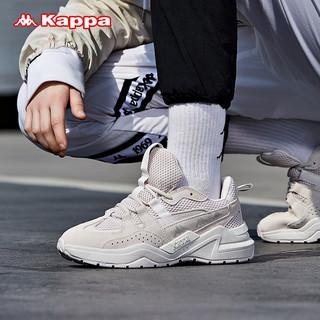 Kappa卡帕串标情侣男女运动鞋复古跑鞋时尚老爹鞋轻便旅游鞋