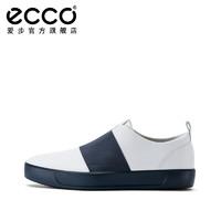 ECCO 爱步 440934 SOFT柔酷8号 小白男鞋