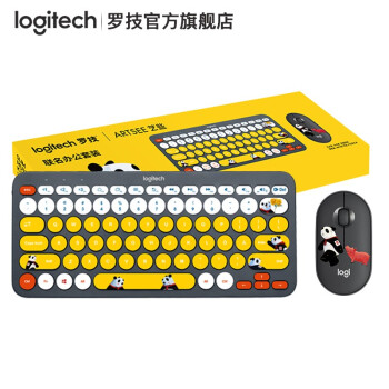Logitech 罗技 K380 熊猫滚滚 键鼠套装