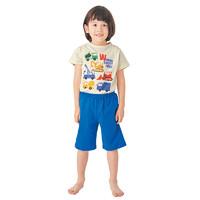 千趣会 春夏男童印花短袖T恤+五分裤 纯棉护肚睡衣上下套装 80-130厘米 *5件