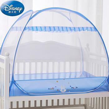 迪士尼宝宝(Disney Baby)儿童蚊帐婴儿蚊帐罩婴儿床蚊帐免安装蒙古包蚊帐蓝色米奇120*65cm