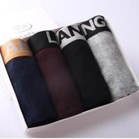 Langsha ES8113-4 男士平角裤 4条装