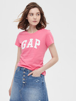 Gap 盖璞 544923 女装 徽标LOGO活力亮色圆领短袖T恤