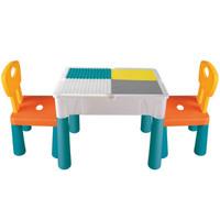 纽恩斯(NUIENS)多功 积木桌+83滑道积木+1椅
