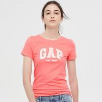 Gap 盖璞 574878 女装棉质徽标LOGO短袖T恤