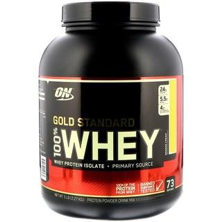 Optimum Nutrition 黄金标准乳清蛋白,香蕉奶油口味,5磅(2273g)