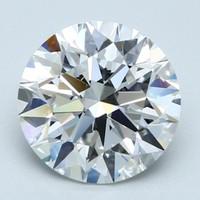 Blue Nile 3.01克拉圆形切割钻石(切工理想,成色F,净度VVS2)