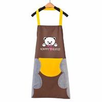 iChoice 厨房防水围裙 咖啡色(黄兜)
