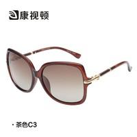 新款康视顿大框墨镜 潮人偏光太阳镜女 优雅时尚复古太阳眼镜K629