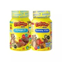 L'ilCritters 小熊糖 儿童复合维生素70粒+鱼油DHA软糖 60粒装 *3件