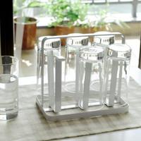 欧润哲 杯架 6杯倒放式杯子置物沥水架玻璃水杯收纳架茶杯储物沥水座 扁铁款 *3件