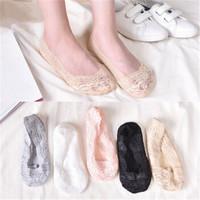 逸少女蕾丝船袜隐形防滑硅胶短袜