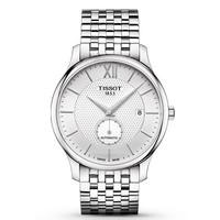 TISSOT 天梭 俊雅系列 T063.428.11.038.00 男士自动机械手表 40mm 白色 银色 精钢