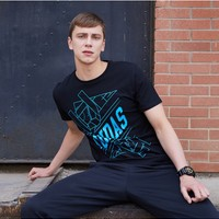 adidas 阿迪达斯 ADITSG1-BBU 跆拳道男装T恤运动服