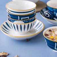 清珂 釉下彩日式陶瓷碗 4.5英寸 4个装