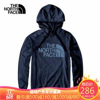 北面(The North Face)20春夏新款男士柔软舒适针织运动卫衣帽衫|497I 蓝色/H2G M码170/92A *3件