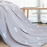 自然醒  春夏季加厚法兰绒毛毯 咪萌 1.5*2m