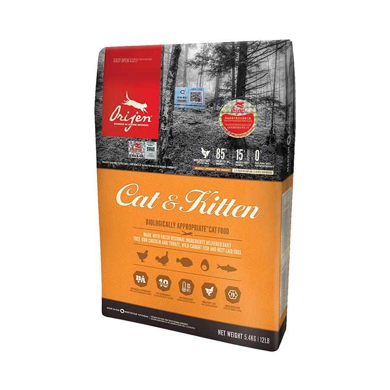 orijen 渴望 爱猫(成猫幼猫)猫粮5.4kg 猫干粮
