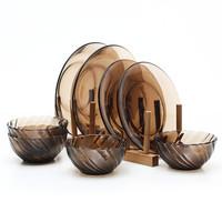Duralex 钢化玻璃餐具套装 8件套(4碗+4盘)