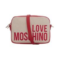 """LOVE MOSCHINO """"爱""""莫斯奇诺 女士Logo单肩斜挎相机包"""