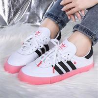 adidas阿迪达斯三叶草女鞋新款情人节爱心运动休闲板鞋