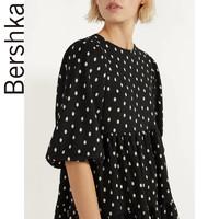 Bershka 娃娃装波点宽松五分袖连衣裙00394296060