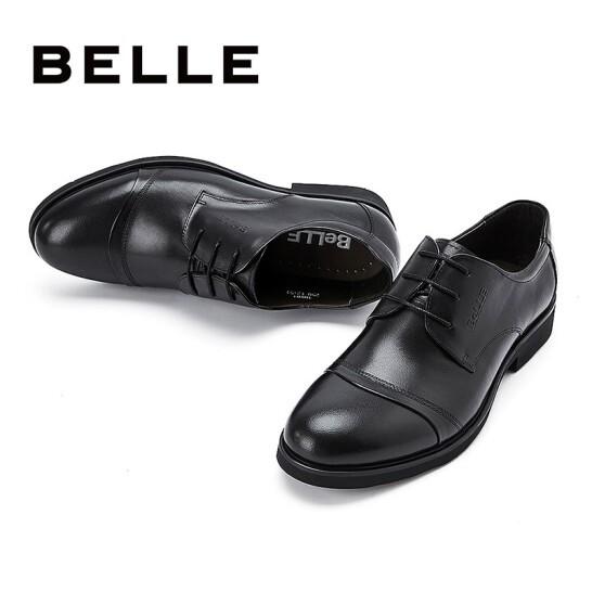 BeLLE 百丽 3UX01CM5 男士休闲皮鞋 黑绒里 43